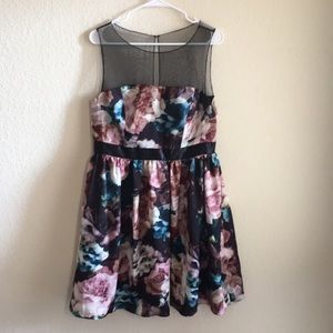 Adrianna Papell Sleeveless Floral Party Dress